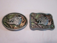 WILD BOAR HEAD CAMO BELT BUCKLE