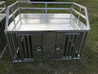 TRUCK OR FULL SIZE RANGER SLIDE IN DOG BOX WITH FLUSH LATCHES