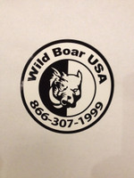 WILD BOAR USA HALF HOG/HALF DOG DECAL