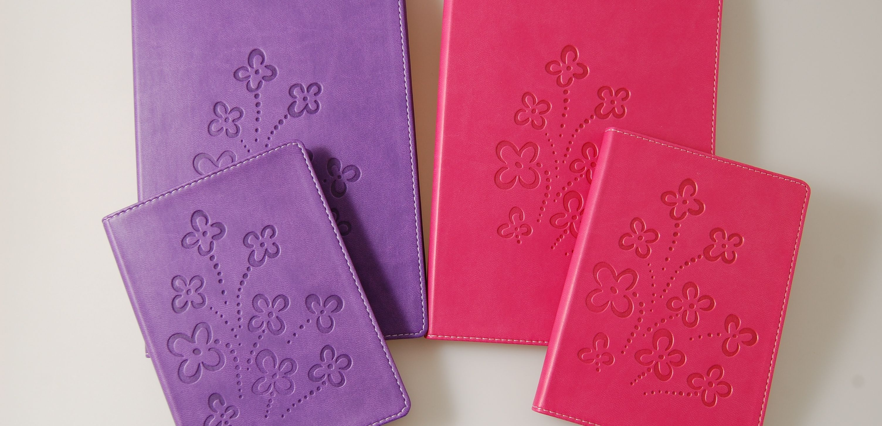 Journals embossed with flowers for Mom