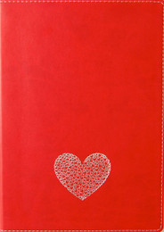 Medium Lined Writing Journal in Firenze Red-Gold Multi Hearts