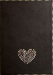 Medium Lined Writing Journal in Firenze Black-Silver Multi Hearts
