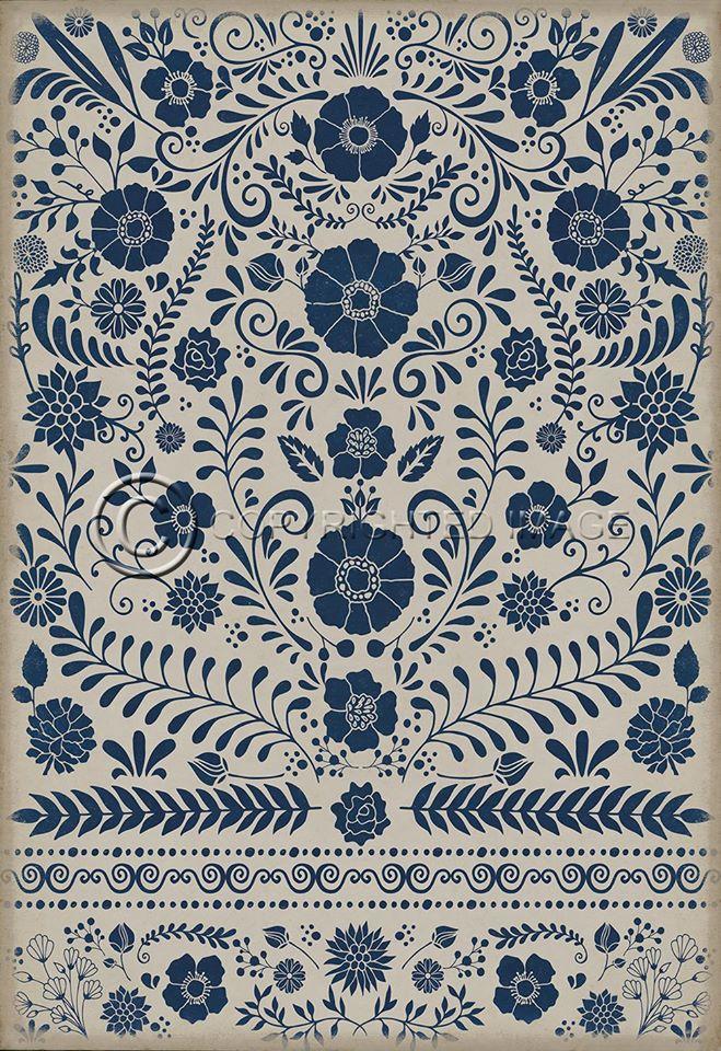 four brand new vintage vinyl floor cloths now available! - pura
