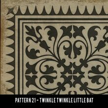 vintage vinyl floor cloth pattern 21 twinkle twinkle little bat