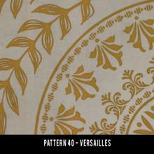vintage vinyl floor cloth pattern 40 versailles | pura vida home decor