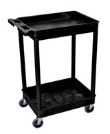 Luxor STC11-B Tub Cart with 2 shelves