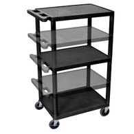 Luxor LEDUO-B Endura Multi-Height AV Cart 3 shelves