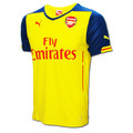 Puma Arsenal Away Replica 14/15 Jersey - Yellow/Blue (1417)