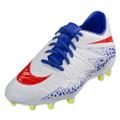 Nike Womens Hypervenom Phelon II FG - White/Bright Crimson/Racer Blue/Volt (11917)