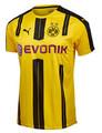 Puma 2016/17 Borussia Dortmund Home Jersey - Cyber Yellow/Black