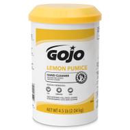 GOJO®  SKU: 0915-06 Lemon Pumice Hand Cleaner 4.5 lb Canister - 96-642-4