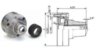 Bison 5C Collet Chuck, 5in Threaded Spindle Nose