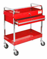 SUNEX Service Cart with Locking Top and Locking Drawer