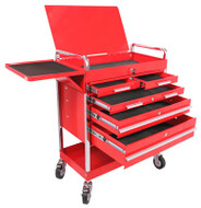 SUNEX Professional Duty 5 Drawer Service Cart with Accessories