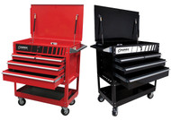 SUNEX 4 Drawer Service Carts with Locking Top