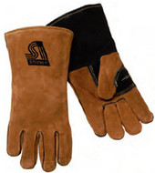 Steiner 02139 Welding Gloves, Brown side split cowhide, Heat Resistor