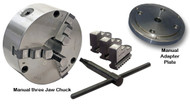 Centroid Manual three Jaw Chucks and Adapter Plates