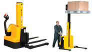 Vestil Narrow Mast Stackers with Powered Drive & Lift