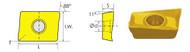 APKT/PM CARBIDE SHOULDER MILLING INSERTS (11MM, 16MM)