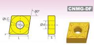 CNMG/DF DIAMOND NEGATIVE RAKE CARBIDE INSERTS