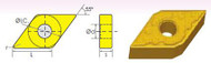DNMG/DM 55° DIAMOND NEGATIVE RAKE CARBIDE INSERTS