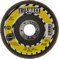 Tru-Maxx  4-1/2 Inch Diameter x 7/8 Inch Hole Coated Zirconia Alumina Flap Disc - 64-026-8