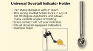 Asimeto Universal Dovetail Indicator Holder - 7500410