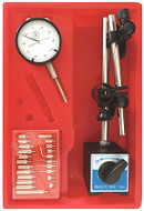 "Precise 3 Piece Magnetic Base and 0-1"" Travel Dial Indicator Kit - 4902-0012"
