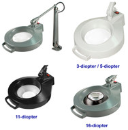 Dazor Iron Man Machine Clamp Magnifiers