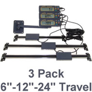 "iGaging 3 Piece Set 6""-12""-24"" Absolute Digital Readout DRO w/ Remote Reading - 35-833-P"