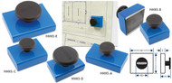 Rectangular Base Magnets with Knobs