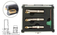 Precise 3 Piece Square Shoulder Indexable End Mill Set - 5822-0360