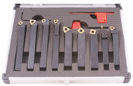 Precise 9 Piece Indexable Turning & Boring Tool Sets