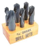 """Premium HSS & Cobalt 118° 3/4"""" Reduced Shank Drill Sets"""