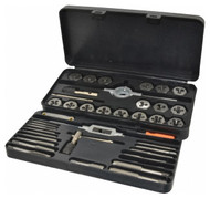 Interstate Tap and Die Set 314-9643, NPT, M3x0.50 to M12x1.75 Tap, 1/8-27 to 1/8-27 Die - 70-147-4