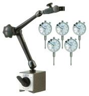 "NOGA DG61003 Magnetic Base &  5-pack of 1"" Dial Indicators - 57-080-092"