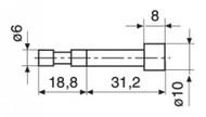 Mahr Cylindrical Probe Z10/31,2 - 4429227