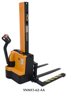 Vestil Narrow Mast Stackers w/Powered Drive & Lift Adjustable Forks