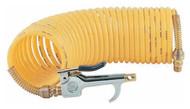 Coilhose Pneumatics Safety Blow Gun & 25 ft. Self-Storing Nylon Air Hose Set 600-N25A - 61-322-4