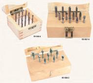 Steel Shank Solid Carbide Burr Sets