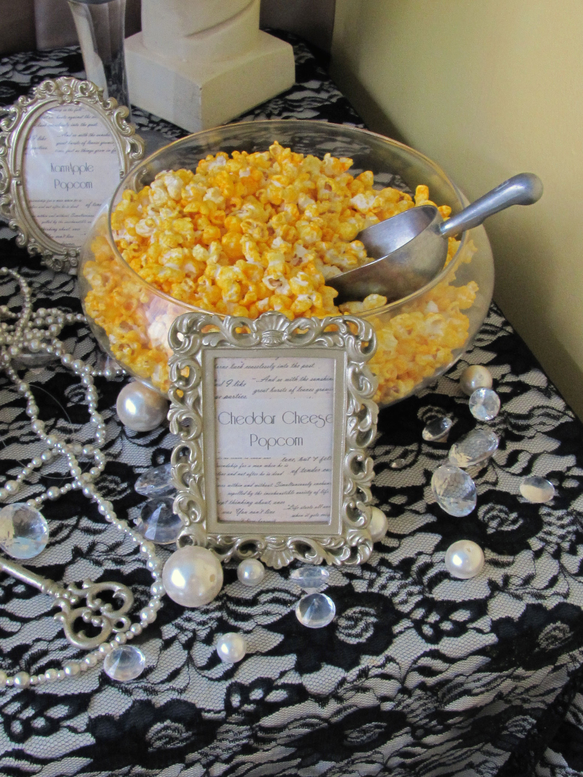 Great Gatsby Vintage Wedding Popcorn Bar