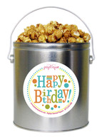 Happy Birthday 1 Gallon Popcorn Tin