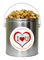 I Love You 1 Gallon Popcorn Tin