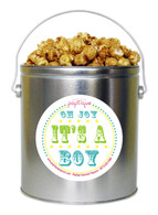 Oh Joy, It's A Boy! 1 Gallon Popcorn Tin
