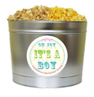 Oh Joy, It's A Boy! 2 Gallon Popcorn Tin