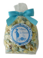 About to Pop! Bowtie Bag Personalized Popcorn Favors - Boy