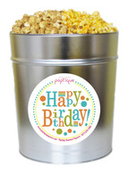 Happy Birthday 3.5 Gallon Popcorn Tin