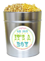 Oh Joy, It's A Boy! 3.5 Gallon Popcorn Tin