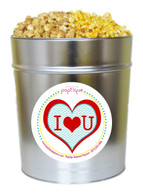 I Love You 3.5 Gallon Popcorn Tin