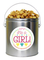 It's A Girl! 1 Gallon Popcorn Tin